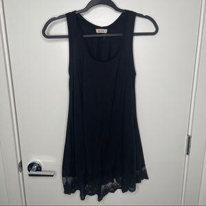 🎁4/20$🎁 long lace hemmed tank top dress